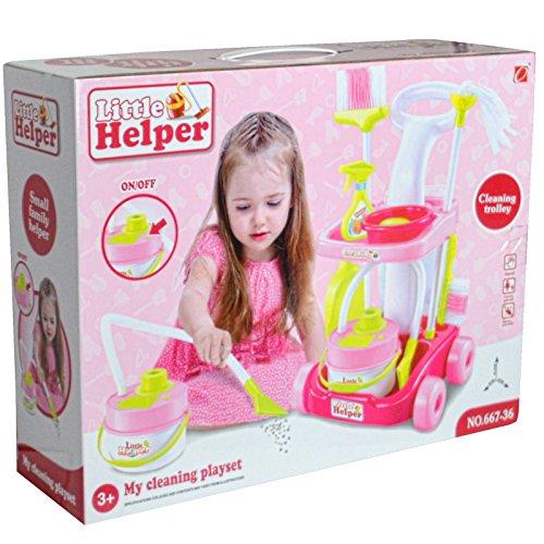 Preisvergleich Produktbild Mädchen Pretend Rollenspiel Reinigung Trolly Set–batteriebetrieben