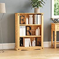 Vida Designs Corona Bookcase, Solid Pine Wood