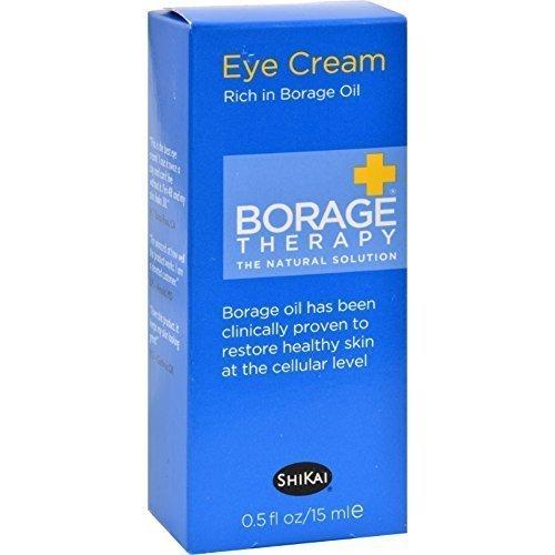 Lot de 8 x Shikai Bourrache Dry Skin Therapy Yeux Crème - 0,5 Fl Oz