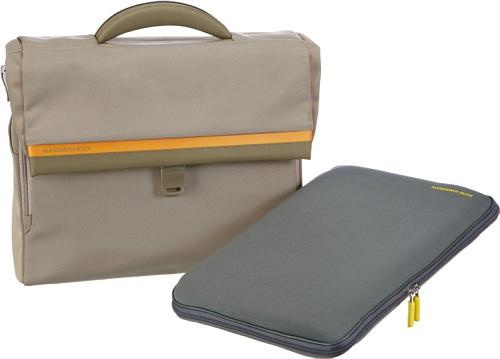 Mandarina Duck Work Bag 53C70, Unisex-Erwachsene Henkeltaschen, Beige (cement 01B), 44x33x13 cm (B x H x T) Beige (cement 01B)