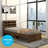 #7: Spacewood Astersb Single Size Bed (Woodpore, Bronze Walnut)