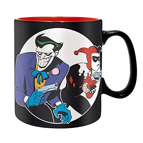 Superman Kostüm Woman Wonder Batman - DC Comics - Batman - Keramik Tasse Riesentasse 460 ml - The Animated Series - Harley Quinn & Joker - Geschenkbox