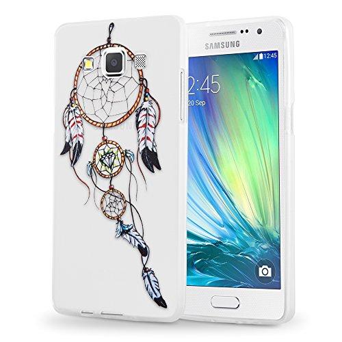 Preisvergleich Produktbild Cadorabo Hülle für Samsung Galaxy A5 2015 (5) - Hülle im Design TRAUMFÄNGER – Handyhülle aus TPU Silikon mit Aufdruck - Silikonhülle Schutzhülle Ultra Slim Soft Back Cover Case Bumper