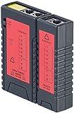 7links Kabeltester: 2in1-Netzwerk- & Telefonkabel-Tester für RJ-45 und RJ-11, 2 Modi (Telefon-Kabeltester)