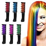 Haarkreide Kamm,ANGTUO Temporäre Haarfarbe Creme Farbstoff Haar DIY 6 PCS