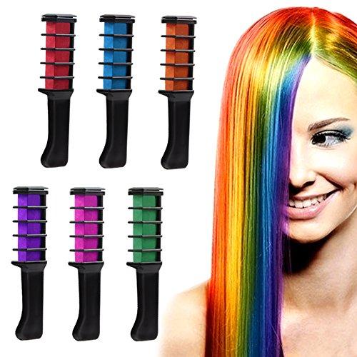 UO Temporäre Haarfarbe Creme Farbstoff Haar DIY 6 PCS (Temporäre Lila Haare Farbe)