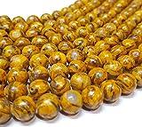 Perlas de Jaspe de 10 mm con Forma de Bola para Joyas, Color marrón