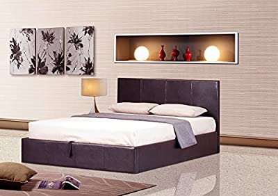 Ottoman Gaslift Storage Double / Kingsize Bed & Mattress Bedroom Furniture (204 x 144 x 89 cm) Assembly Required produced by Modern Furniture Direct - quick delivery from UK.