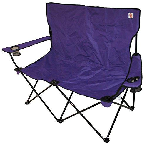 TrottyBrand Double Camping Klappstuhl–Big–stark–lila (Double-camping-stuhl)