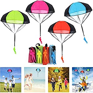 JWTOYZ Fallschirm Spielzeug Kinder, 4 Stück Fallschirm Kinder...
