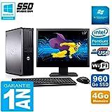 Dell Optiplex 780 DT Display 19 Zoll Intel E5300 RAM 4 GB 960 GB SSD WiFi W7