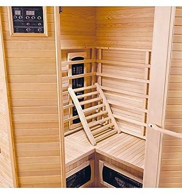 Sauna Infrarot Eck Clegane–3–4sitzer von GW - Du und dein Garten