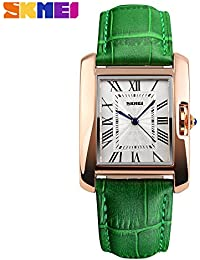 HWCOO Reloj de la correa de cuero del cuarzo de la muñeca de la moda las