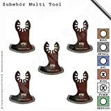 5er Set Diamantsägeblatt Sichel 58mm Fugen für Multifunktionswerkzeug Multi Tool