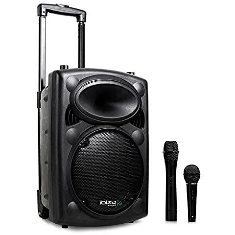 Ibiza Port8VHF-BT Sono PA portable bluetooth + pied de