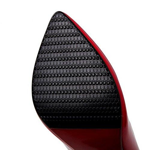 D'orteil Pointu Voguezone009 Fermeture Tire Femme Couleur Stylet Fwqx4zt