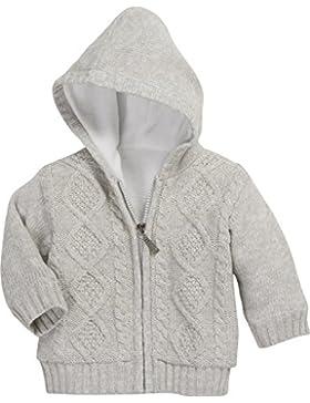 Schnizler Unisex Baby Strickjacke Jacke mit Zopfmuster, Fleece Gefüttert
