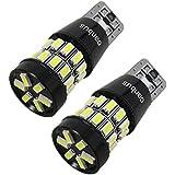 siluk _ 2x 30SMD LED blanco de luz de posición W5W T10Casquillo de cristal checkcontrol Bus CAN