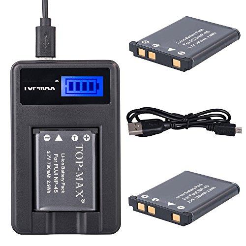 top-maxr-2-pack-np-45-battery-rapid-usb-charger-for-fujifilm-finepix-xp50-xp60-z10fd-z20fd-z30-z31-z