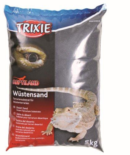 Trixie 76130 Wüstensand für Terrarien, 5 kg, schwarz