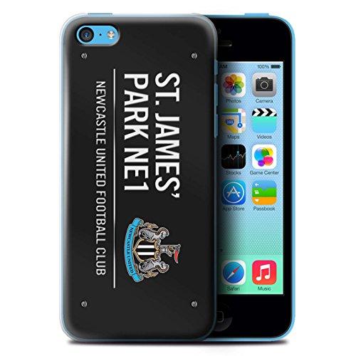 Offiziell Newcastle United FC Hülle / Case für Apple iPhone 5C / Schwarz/Weiß Muster / St James Park Zeichen Kollektion Schwarz/Weiß