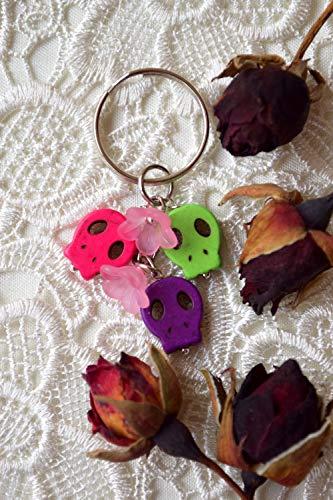 Schädel Schlüsselbund Tag der Toten Schlüsselanhänger ()