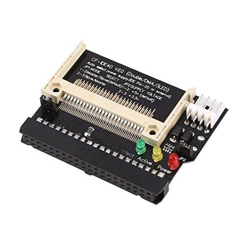73JohnPol Compact Flash CF auf 3.5 Buchse 40 Pin IDE Bootable Adapter Konverterkarte Standard IDE Schnittstelle True-IDE Modus (Farbe: Schwarz) -
