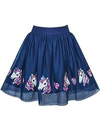 Sunny Fashion Chicas Falda Unicornio Caballo Lentejuelas Espumoso Tutu Bailando 9-10 años