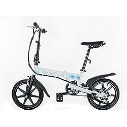 "Smartgyro Ebike White - Bicicleta Eléctrica Plegable con asistente al pedaleo, ruedas de 16"",Batería de litio de 4400- 36v, color blanco"