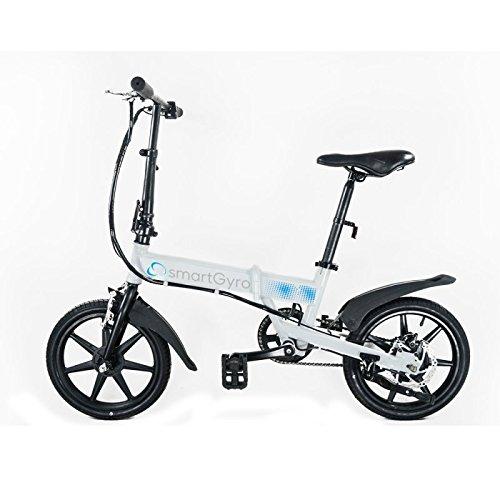 Smartgyro SG27-091, Bicicletta Elettrica Pieghevole Unisex – Adulto, Bianco, L
