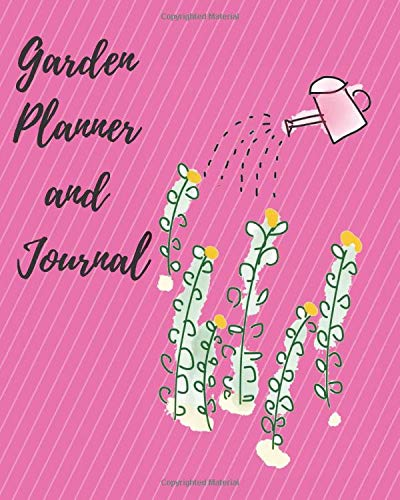 Garden Planner and Journal in Pink: A gardening planner, diary or logbook to keep you organized. Over 20 templates for information for 5 different gardens. Great gift idea too. -