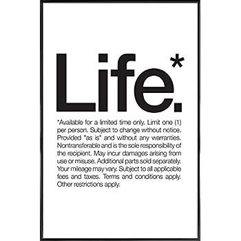 Juniqe Poster Encadré 20x30cm Noir Blanc Citations Et Slogans Design Life Black Format Portrait Affiche Encadrée Affiche Sous Cadre