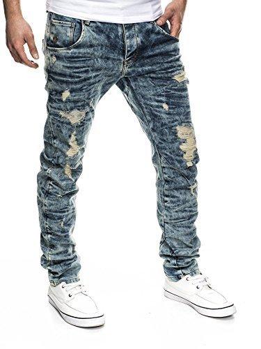 LEIF NELSON Herren Jeans Jeanshose LN1219-2053 Schwarz-Tšne