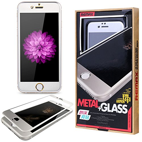 REMAX Armor Metal Glass Tempered Screen Guard for Apple iPhone 6 4.7in (Silver)