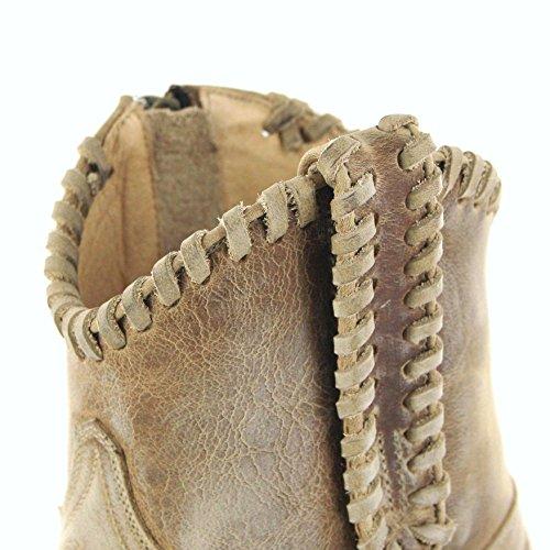 Sendra Boots Stiefel / Sendra Boots MILA / Sendra Stiefelette 14664 Beige / Sendra Fashion Stiefelette / Sendra Damen Stiefelette / Beige Fashion Stiefelette Beige