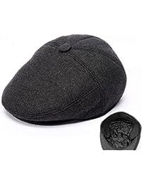 Boinas Sheng Gorra de Lana Polar para Hombre Gorra de Lana de Gorro irlandés Ivy Hat (56-60cm) (A) (Color : C,…