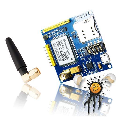 Androegg AI Thinker - Scheda di Sviluppo A6 gsm con Antenna Quad Band 850  900 1800 1900 MHz per Arduino SIM900 ESP8266