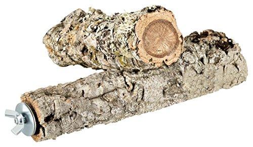 2er Set Kork Vogel-Sitzstangen aus Naturkork-Rinde. Zum Sitzen, Anknabbern, Knuspern. Sitz-Stange aus natürlichem Kork für Wellensittiche, Kanarienvogel, Papagei und andere Vögel von Kork-Deko. Befestigungsmaterial aus hochwertigem Edelstahl