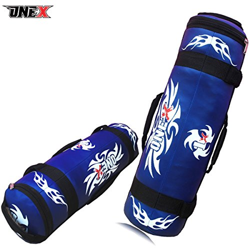 10kg Free Rope Onex Power Cloth//Sand FILLED Bag Boxing MMA Training Fitness 5-25kg Black-Blue-Red