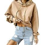 UFACE Frauen Hoodie Casual Tops Rundhals Sweatshirts Pullover Langarmshirts