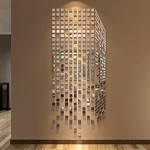 290pcs DIY Spiegel Wand Aufkleber Home & Office Wohnzimmer Decor Modern Art Spiegel Wand Wandbild Dekoration