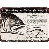 Fishing Lure Lichtgewicht metalen tin plaque stevige en duurzame retro look die nooit vervaagt 20 * 30 cm