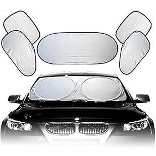 Preisvergleich Produktbild 1set New Volle Auto Sonnenschutz Front Side Rear Window Schutzscheibe Reflektor 6 Stück Set
