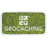 Geocaching Logo Patch Aufnäher + Dosen Logbuch von Geo-Versand mit Geocaching Logo Grün - Groundspeak