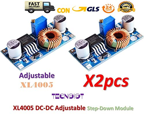 2pcs XL4005 Adjustable Step Down Power Supply Module LED Lithium Charger Board -