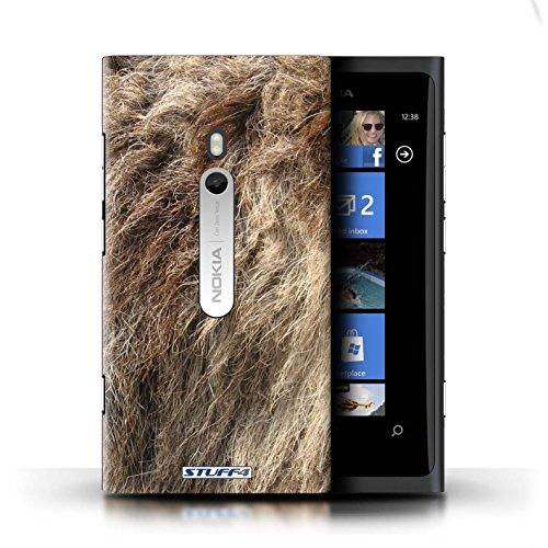Kobalt® Imprimé Etui / Coque pour Nokia Lumia 800 / Vache/Brown conception / Série Motif Fourrure Animale Loup