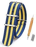 Randon, Nato, cinturino per orologio, in nylon balistico, con fibbia in acciaio inossidabile,...
