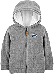 Simple Joys by Carter's Hooded Fleece Jacket with Sherpa Lining N
