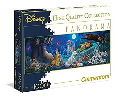 Clementoni 39245.2 - Puzzle Disney Panorama Collection Sweet night, 1000 Teile