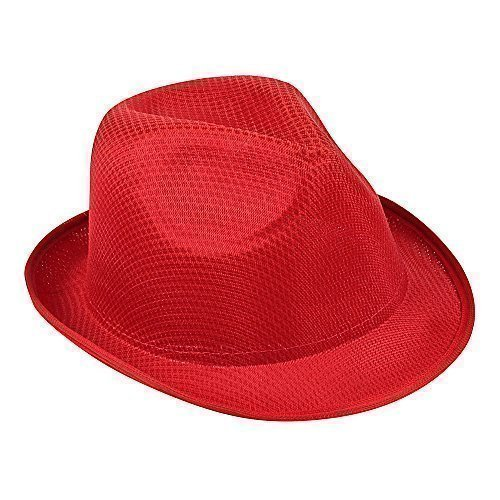 Damen & Herren Sommer SONNEN HUT - Fedora Panama Trilby Strohhut Stil Strand Hut Unisex, 10 x Rot, nicht angegeben